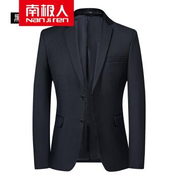 南極人2020スーツ男性春秋季新品男性スーツ父薄手のジャケット中年純色韓国式修身黒L