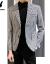プレイボーイ(PLAYBOY)夏の黒と白のチェックの小さいスーツの男性と韓国式の修身シングルボタンスーツの男性が上着を少し詰めます。
