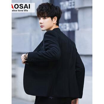 トーチカスーツスーツ男性修身韓国式青年スーツ男性スーツコート2020春秋新品ビジネス単西上着黒単西L