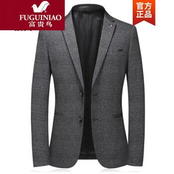 富貴鳥ブランドのオフィシャルショップメンズ中年ビジネス略装男性スーツ単西ジャケット韓国式修身おしゃれスーツに服灰色170/M