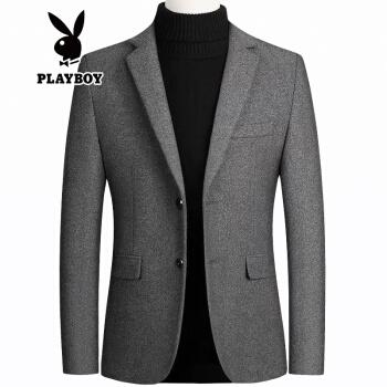 プレイボーイ2020新品のウールです。スーツは男性純色ファッションビジネススーツです。