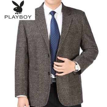 ℘プレイボーイ℘新商品の中老私服はシンプルに上着をメンズスーツの中年スーツです。父のコートのサイズは180/78です。