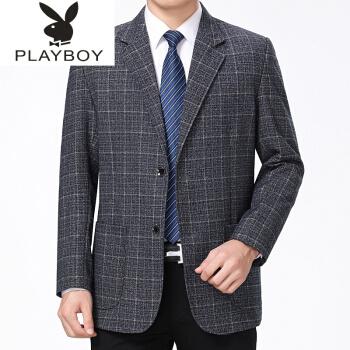 ℘プレイボーイ℘春秋中年男性スーツの父は私服の中年スーツを着ています。カジュアルスーツの15種類のブルー190/82(180-200斤の服を勧めます。)