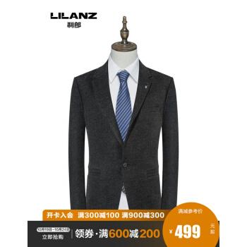 利郎メーズの毛は、スーツの男性コート2020新品のブレザーと小さなブレザーの濃い灰(19 QDX 2283 SA)180/92 Aです。