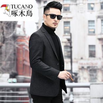 キツツキブランドメンビジネス略装気質男单西小洋服20春秋新品の西ジャケットファッションKCN黒170
