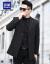 ロモンスーツ男性修身韓国式春秋モデルビジネス新品青年修身スーツ純色少々男性用ジャケットスーツスーツスーツスーツスーツスーツ結婚式新郎礼服黒180。