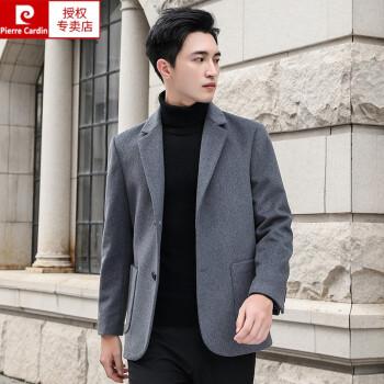 ピルカダン【専門店の品質】高級ウールのラシャのコート男性用ショートビジネススーツカシミヤのコートなし韓国式修身スーツ秋冬ニット灰色L