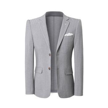 【おしゃれ新品】ビッグサイズ男性ブレザープロ韓国スタイル修身ビジネス白底ジャケットX 99浅灰单西S