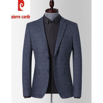 ピルカダン官ネット店20秋新品のチェック柄の小さいスーツ男性は私服のコートを着ています。韓国式ビジネス修身メンズのスーツはラングレー195/4 XLです。