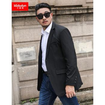 卡度顿特大サイズの単西男春秋季新作スーツのデブに肥満の増大サイズのビジネススーツの上着XL-8 XL太っている人のスーツの上着の男性黒い5 XLは200-220斤に適しています。