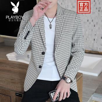 プレイボーイフラッグシップのオフィシャルショップです。スーツの男性用トップスを少し入れてください。韓国式のごろつきの格好良いスーツの男性は秋冬冬の服装は軽いです。品質は米色XLです。
