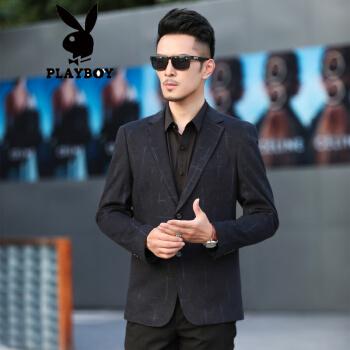 ℘プレイボーイフラッグシップのオフィシャルショップℑ2020新品男性便西ビジネス略装気质シンプルな単西スーツ姿が特徴的な新作ブラック175