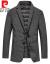 ピルカダン秋冬の新商品は厚い保温性があります。スーツ男性ビジネスファッションスーツの羽毛ジャケットのニットは黒い180/XLです。