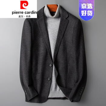ピルカダン秋冬の新作のラシャを少し詰めたスーツのメンズコート単品の韓国式修身服です。カッコイイ上着777灰色46/170