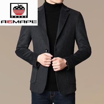 AEMAPE/米アップルの公式秋冬スタイルスーツ男性ウール中年男性単西純色スーツの上着と父の服は灰色1901/95-125斤です。