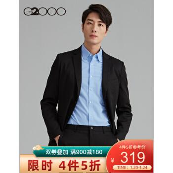 G 2000ブレザー男性正装ビジネス略装季新品韓国式おじゃれスーツ01110054黒/99 48/170