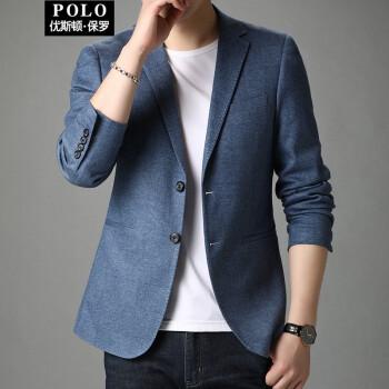 優ストンポールスーツ男性は韓国式男性スーツの上着を少し詰めます。2020秋の新商品は小さいスーツの上着と蘭色の180/XLを少し詰めます。