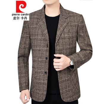 ピルカダン秋の新作メンズスーツの上着中年スーツの3つのバックル単西ビジネスの略装の父は秋冬ニットの89316色の170/Mを詰めます。