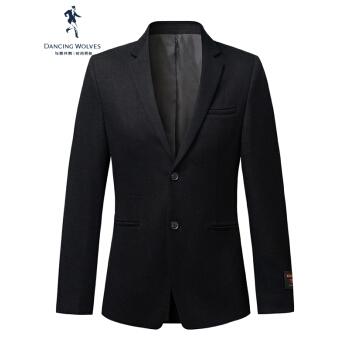 ダンス・ウィズ・ウルブズスーツ男性2020秋新品ビジネススーツ韓国式修身毛ですね。男性用ジャケット単品ブラック175/92 A(XL)
