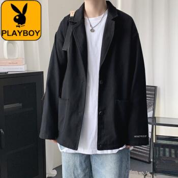 プリイボアイがエースを少し诘めています。男性は春秋新商品で、ゆった韩国式です。学生风のアフロです。黒の高品質XL。
